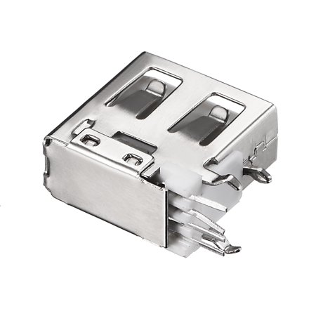 PCB USB Connector A Type Female Jack 4P Side Insert Short Body Flat Mout 20Pcs - image 1 de 4