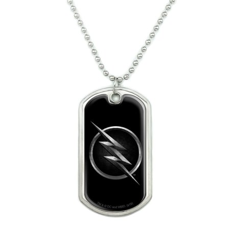 The Flash TV Series Zoom Logo Military Dog Tag Pendant Necklace with Chain