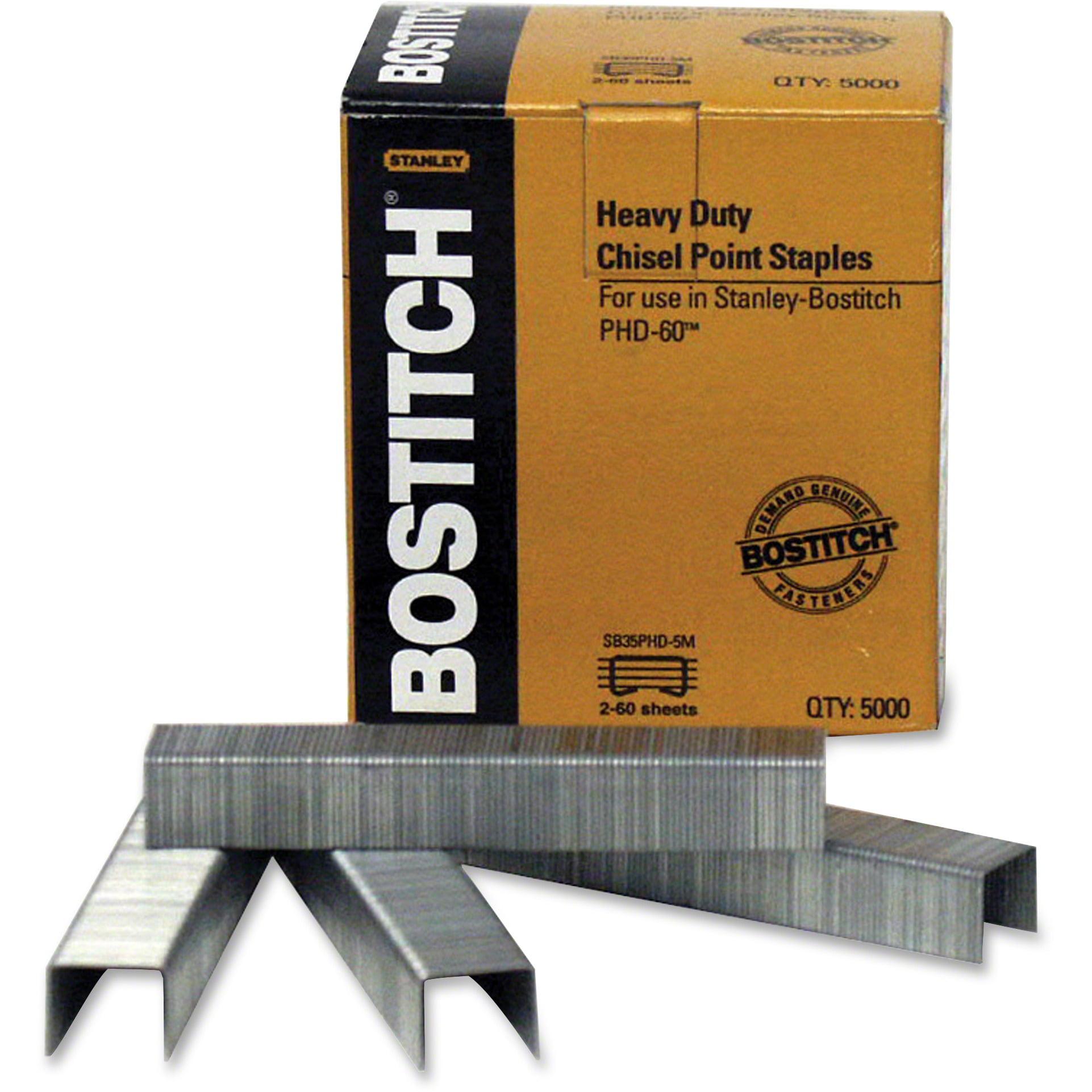 "Bostitch Heavy-Duty Premium Staples, 3 8"" Leg Length, 5000 Box by Amax Inc"