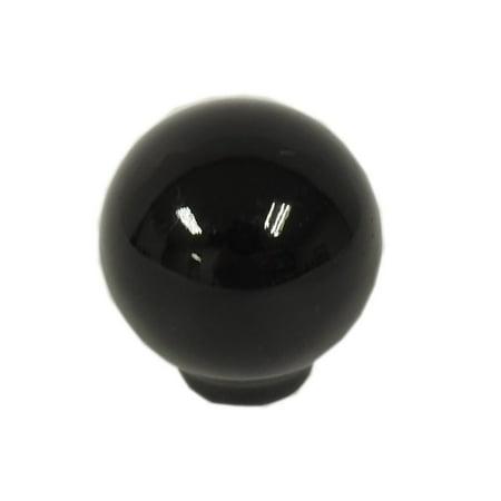 "(Lot of 20) 1.5"" Diameter Ceramic Ball Shape Cabinet/Drawer Knobs - Black"