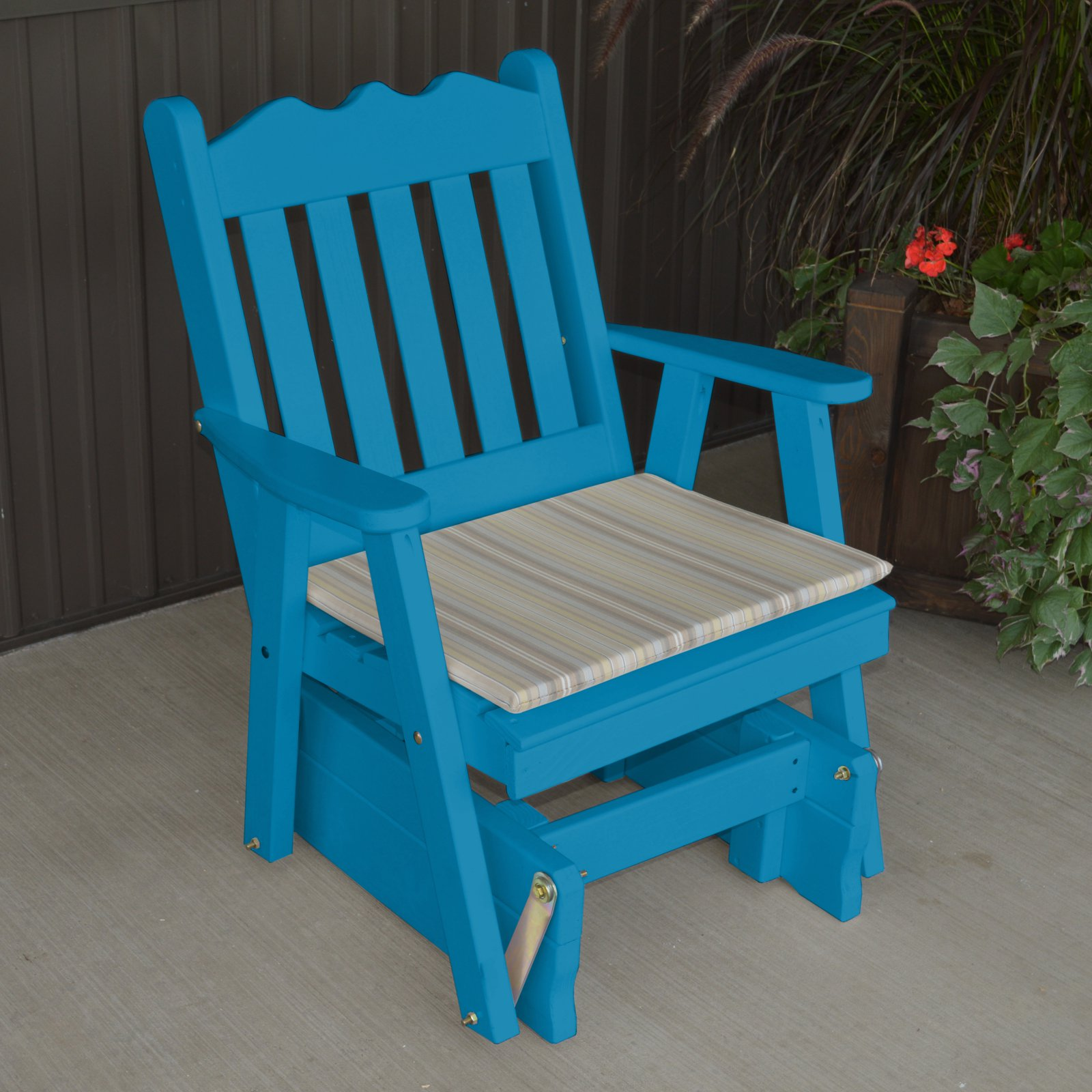 A & L Furniture Yellow Pine Royal English 2 ft. Outdoor Glider Chair