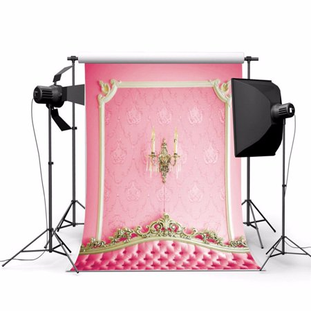 3FT x 5FT Pink Headboard Background Photography Backdrop Screen Video Studio Photo Curtain