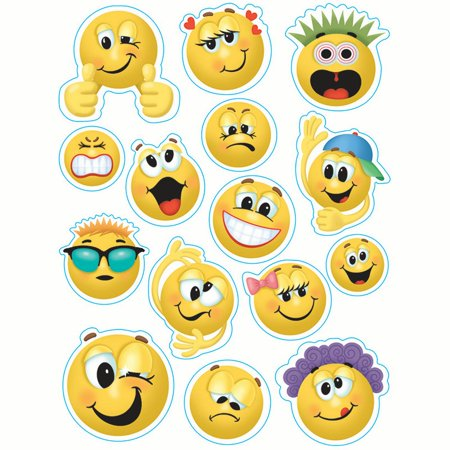 EMOTICONS 12 X 17 WINDOW CLINGS - Snowflake Window Clings