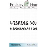 Prickley Pear Cling Stamps 2.25 Inch X 2 Inch-Wishing You A Spookt