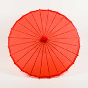 "Quasimoon 32"" Red Parasol Umbrella, Premium Nylon by PaperLanternStore"