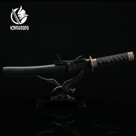 (Real Samurai Sword, Japanese Short Katana Sword Real Handmade 1045 Carbon Steel)