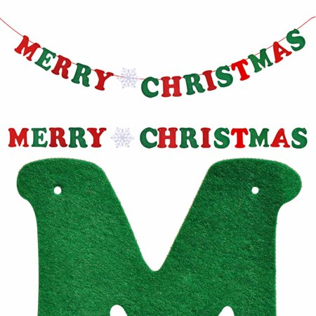 DIY Merry Christmas Hanging Bunting Sign Garland Banner String Party Flag Home Office Holiday - Diy Christmas Garland
