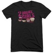 2 Broke Girls Cupcakes Mens Tri-Blend Short Sleeve Shirt