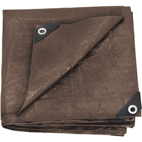 Rip Stop Tarp, 10' x 12', Brown, Standard Duty