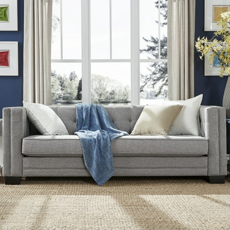 - Chelsea Lane Tufted Sofa, Gray Linen