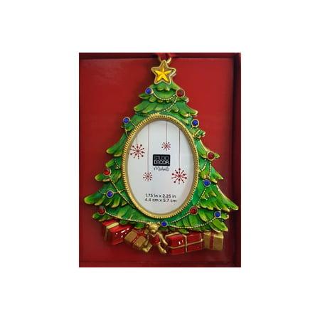 Jeweled Christmas Tree Photo Frame Ornament Walmartcom