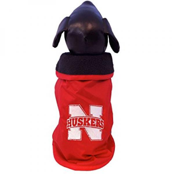 ncaa nebraska cornhuskers all weather resistant protective dog outerwear, x-small