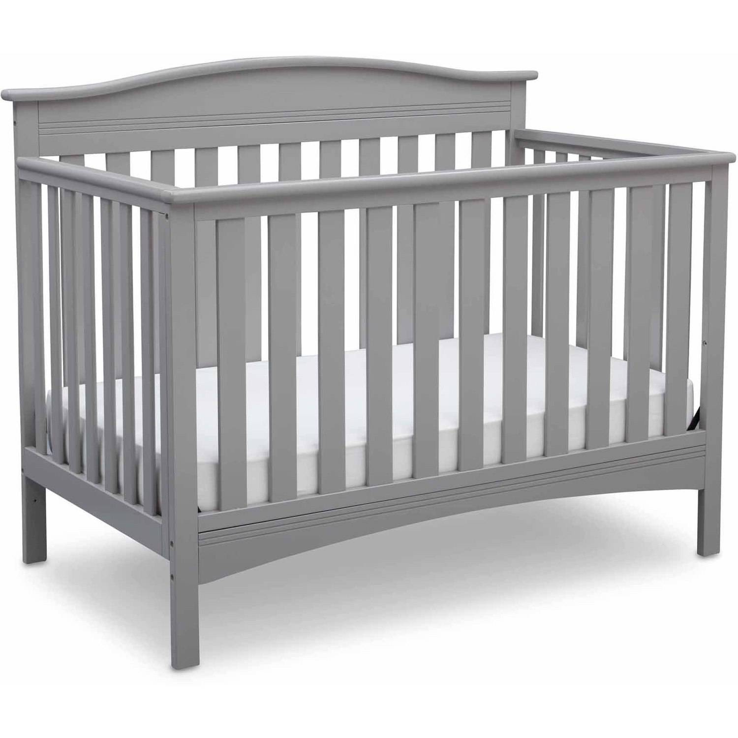 Delta Children Baker 4-in-1 Convertible Crib, Gray ...