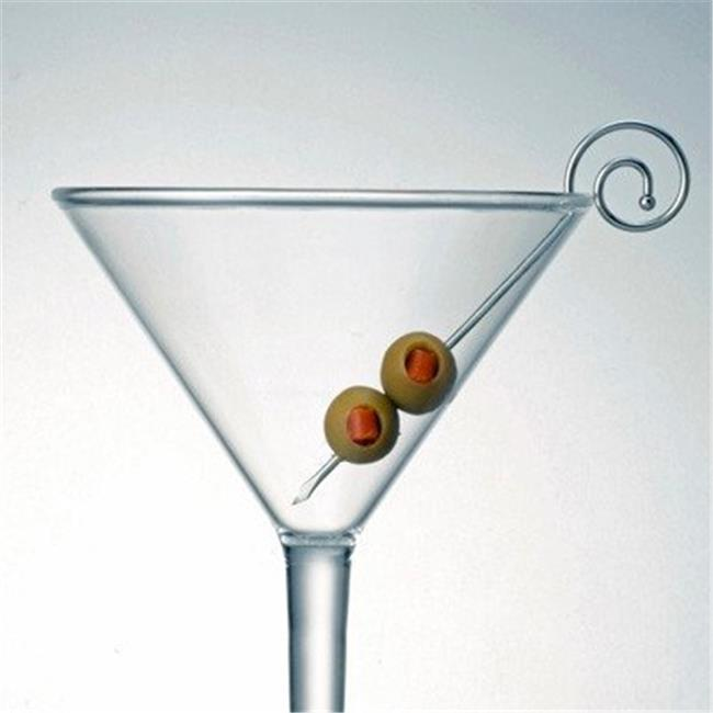 Prodyne Stainless Steel Spiral Martini Glass Martini Picks Set of 6 by Prodyne