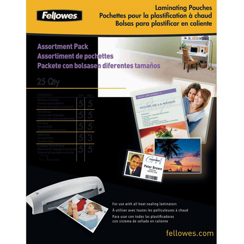 Fellowes Laminating Pouch Starter Kit, 25pk