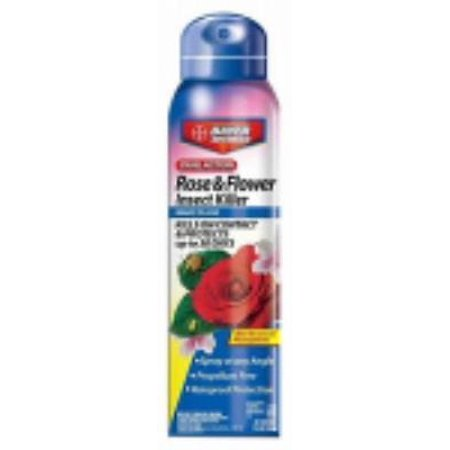 15 OZ Dual Action Rose and Flower Insect Killer Spray Kills On Contact &