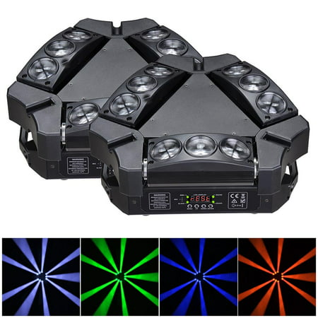 9x10W 4in1 Mini LED Spider Moving Head Light RGBW DMX Stage Bar KTV Disco Party (Pack of (Best Led Moving Head)