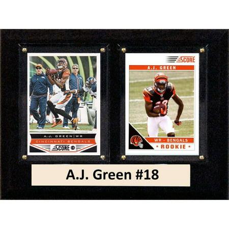 Cincinnati Bengals Neon Sign (C&I Collectables NFL 6x8 A.J. Green Cincinnati Bengals 2-Card Plaque)