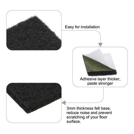 Furniture Pads Adhesive Felt Pads 16mm x 16mm Square 3mm Thick Black 28Pcs - image 6 de 6