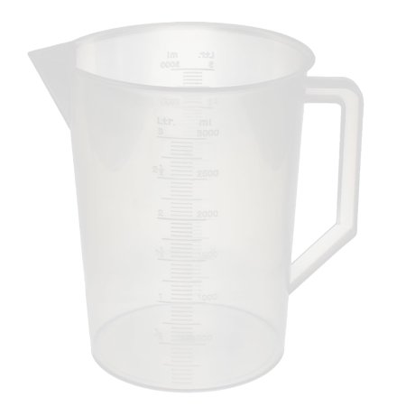 Unique Bargains Kitchen Labotary 3000mL Plastic Measuring Cup Jug Pour Spout Container