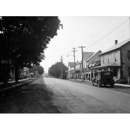 - 1930s Jennerstown Pennsylvania Looking Down The Main Street Of This Small Town Print By Vintage Collection