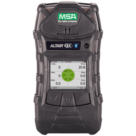 MSA ALTAIR® 5X Portable Combustible Multi-Gas Detector, Carbon Monoxide, Hydrogen Sulphide And Oxygen Monitor With Rechargeable Battery, Color Display, Pump, Sampling Line And Probe