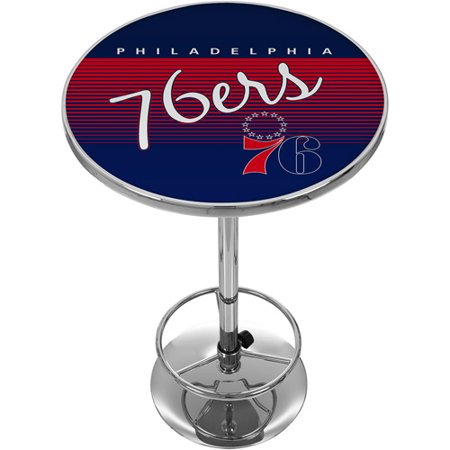 Philadelphia 76ers Hardwood Classics NBA Chrome Pub Table by