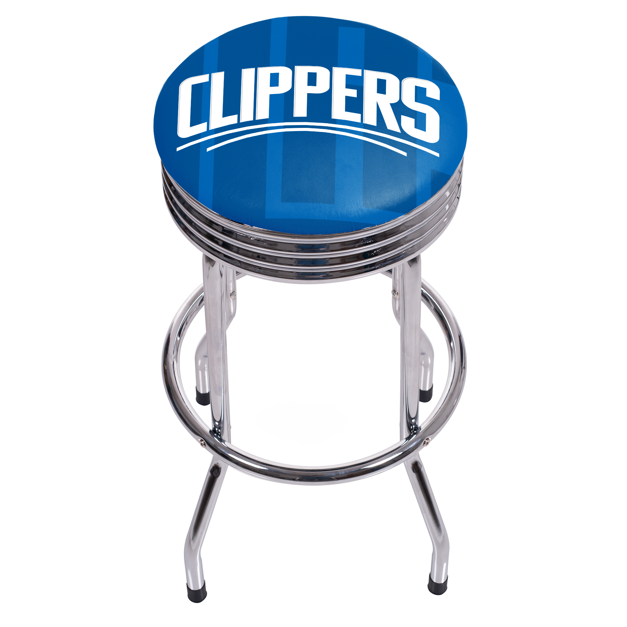 NBA Chrome Ribbed Bar Stool - Fade - Los Angeles Clippers