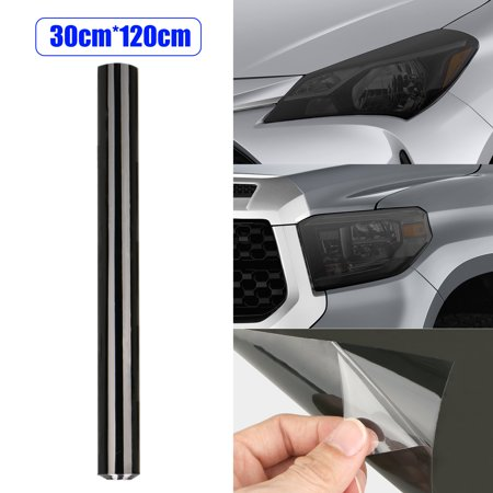 Tint Vinyl Film Overlay Wrap Sheet Sticker for Headlight Fog Lamp Tail Light Side Marker Lights Windshield, Not Fade, Chip, Crack Nor Peel (Black)