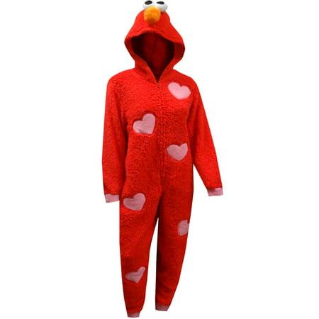 Sesame Street Elmo Plush Onesie Pajamas