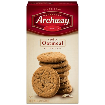 (2 Pack) Archway Soft Oatmeal Classic Cookies, 9.5 Oz