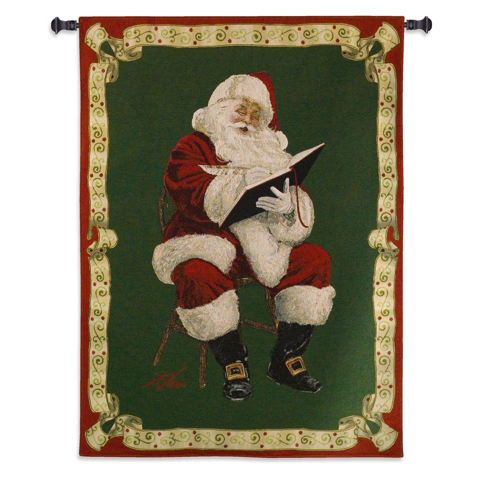 Fine Art Tapestries Santas Notes by Donald Zolan Wall Tapestry by Supplier Generic