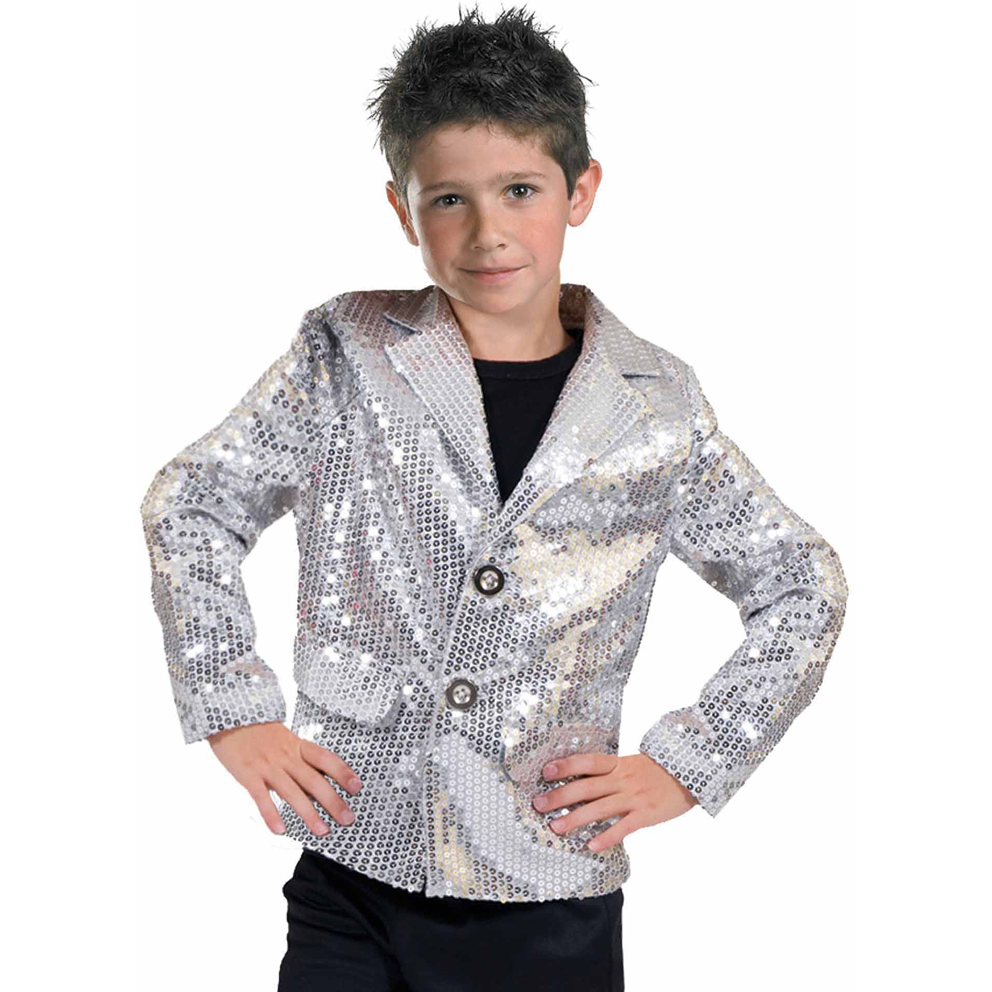 Silver Disco Jacket Child Halloween Costume