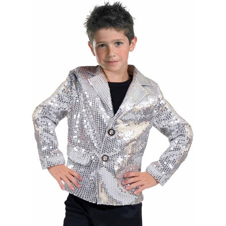 Silver Disco Jacket Child Halloween Costume - Halloween Jacket Potatoes