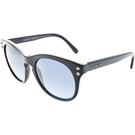 Coach Women's HC8190-542217-51 Blue Round Sunglasses ()