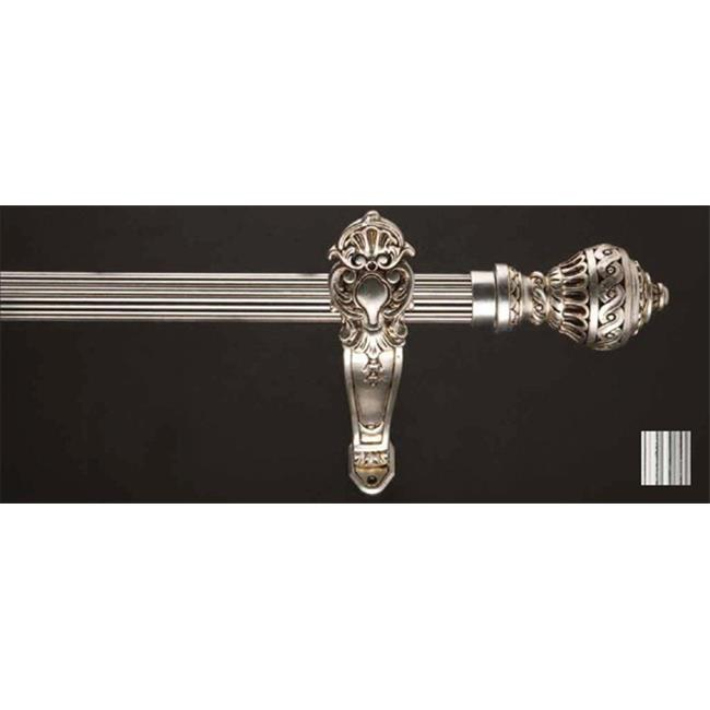 WinarT 8.1181.30.32.120 Palas 1181 Curtain Rod Set - 1.25 in. - White-Black - 48 in. - image 1 of 1