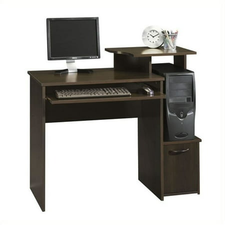 Pemberly Row Office Wood Computer Desk in Cinnamon