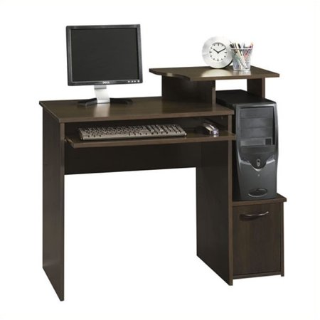 Pemberly Row Office Wood Computer Desk in Cinnamon Cherry