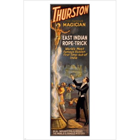 Thurston The Famous Magician Indian Conjuring 24X36 Vintage Magic (Magic Vintage Poster)