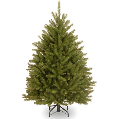 national tree unlit 4 12 dunhill fir hinged artificial christmas tree