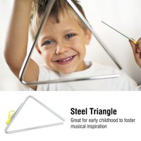 FAGINEY Children Music Enlightenment Musical Percussion Instrument Steel Triangle with Striker, Musical Triangle, Percussion Triangle
