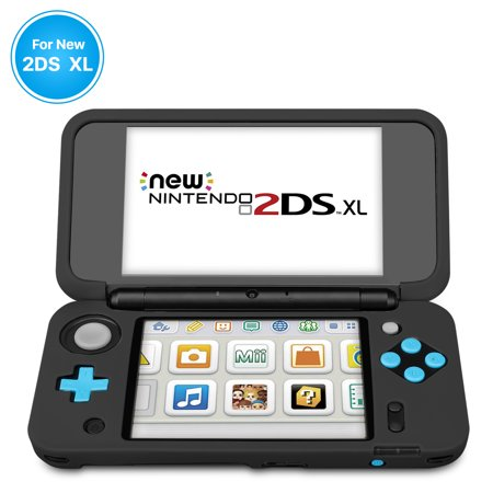 New Nintendo 2Ds Xl Silicone Case   Soft Rubber Protective Grip Cover Sleeve Game Console Skin Guard Non Slip Comfort Gel Ergonomic Controller Shell Accessories For New 2Ds Xl Ll  Black