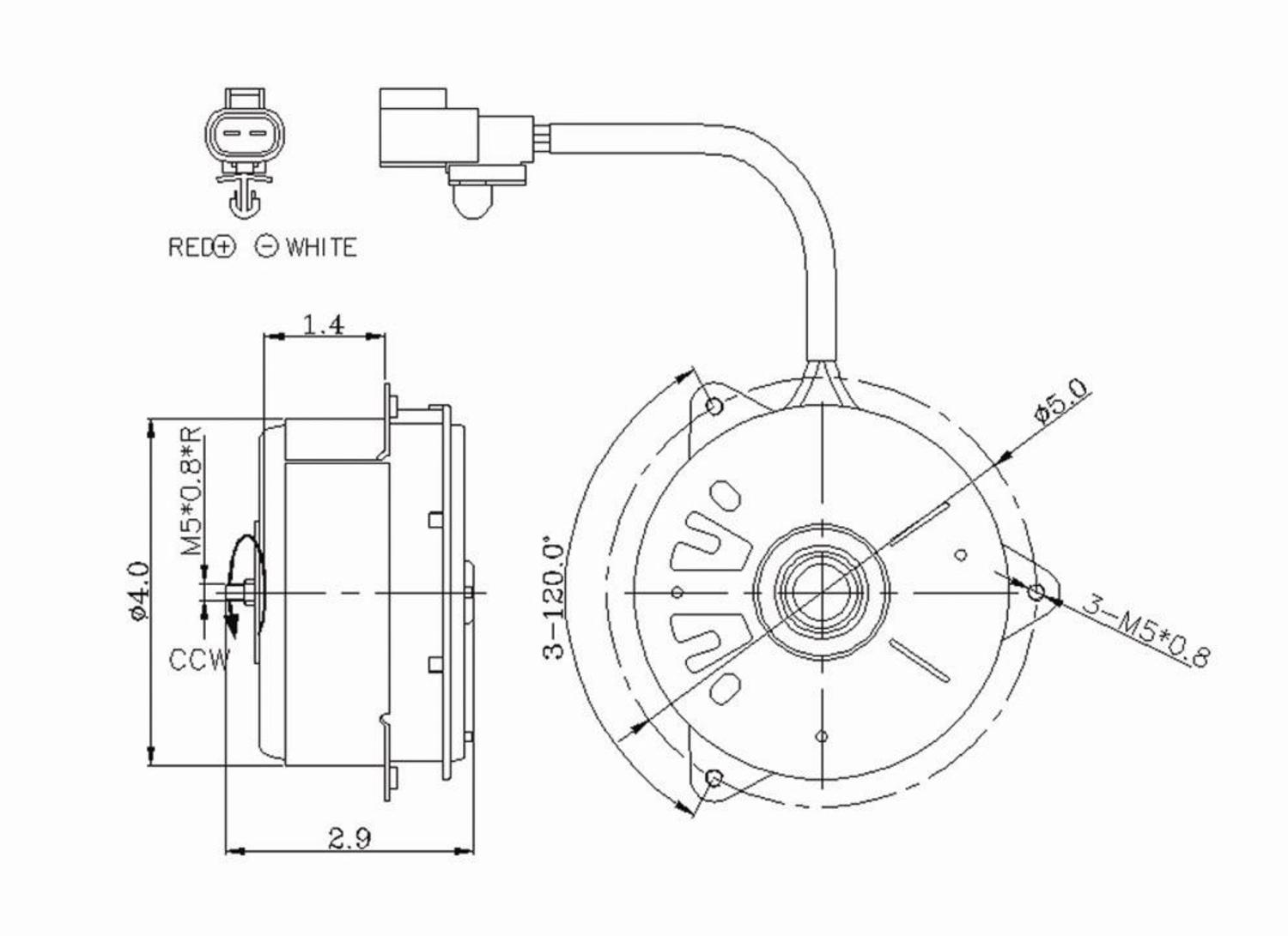 [TVPR_3874]  TYC 630320 Engine Cooling Fan Motor for Lexus ES Series, Camry, Solara  TO3116108 - Walmart.com - Walmart.com | Lexus Engine Cooling Diagram |  | Walmart