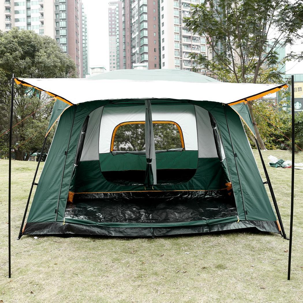 Cleanerlove Waterproof Family Tent 8-Person 210D Oxford C&ing Instant Cabin 14x10x7 Feet CEAER & Cleanerlove Waterproof Family Tent 8-Person 210D Oxford Camping ...