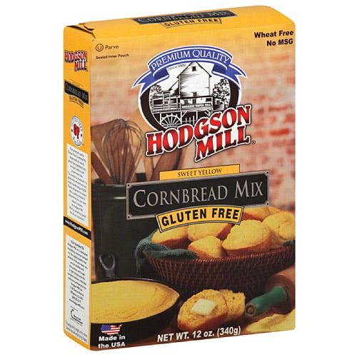 Hodgson Mill Gluten Free Sweet Yellow Cornbread Mix, 12 oz, (Pack of 6)