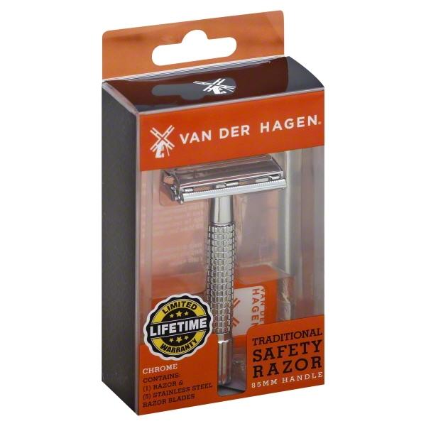 Van Der Hagen Traditional Safety Razor, 1.0 PACK