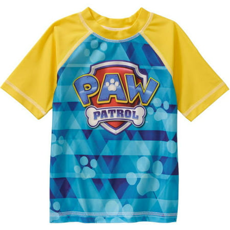 Paw Patrol Toddler Boy Short Sleeve Swimwear Rashguard Top