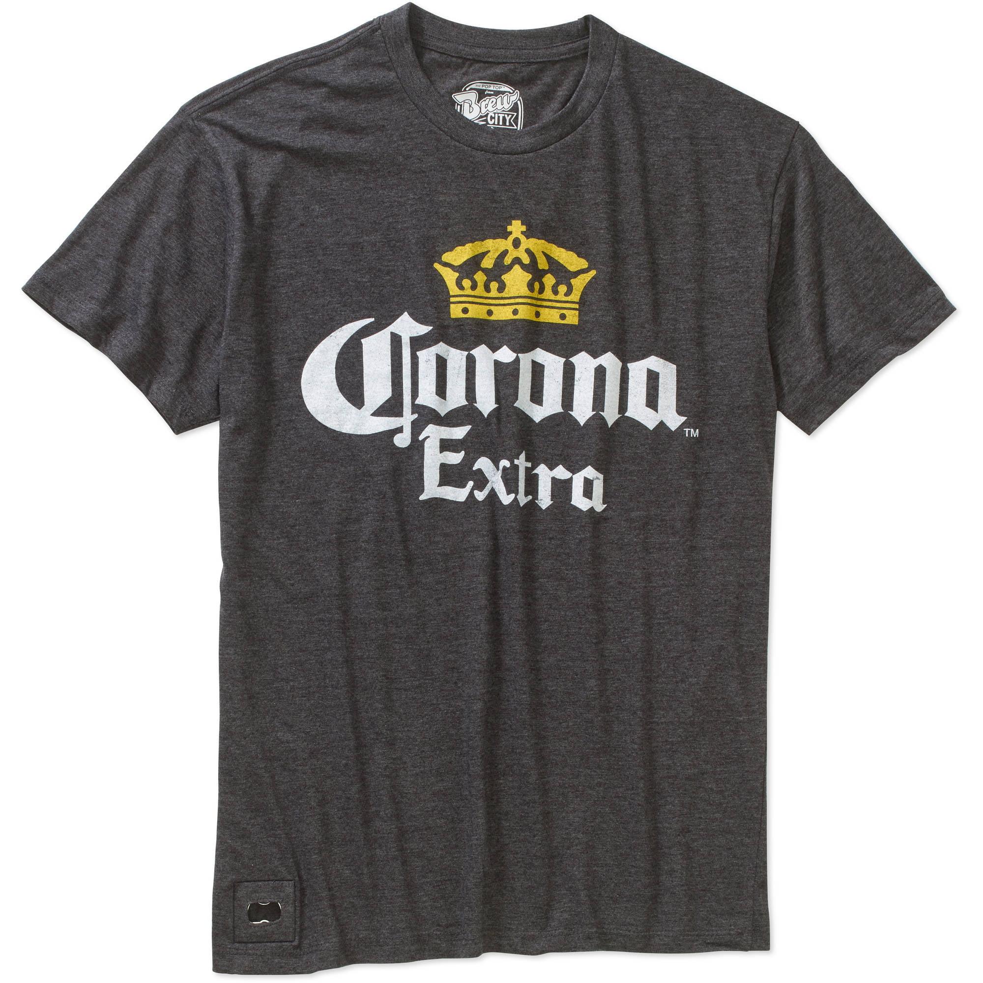 Corona Big Men's Pop Top Graphic Tee with Bottle Opener, 2XL