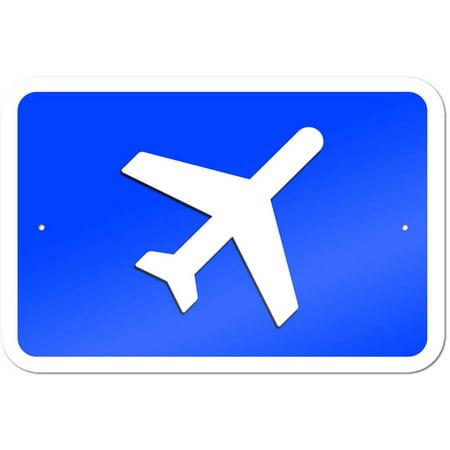 Airplane Airport Sign Vintage Metal Airplane Sign