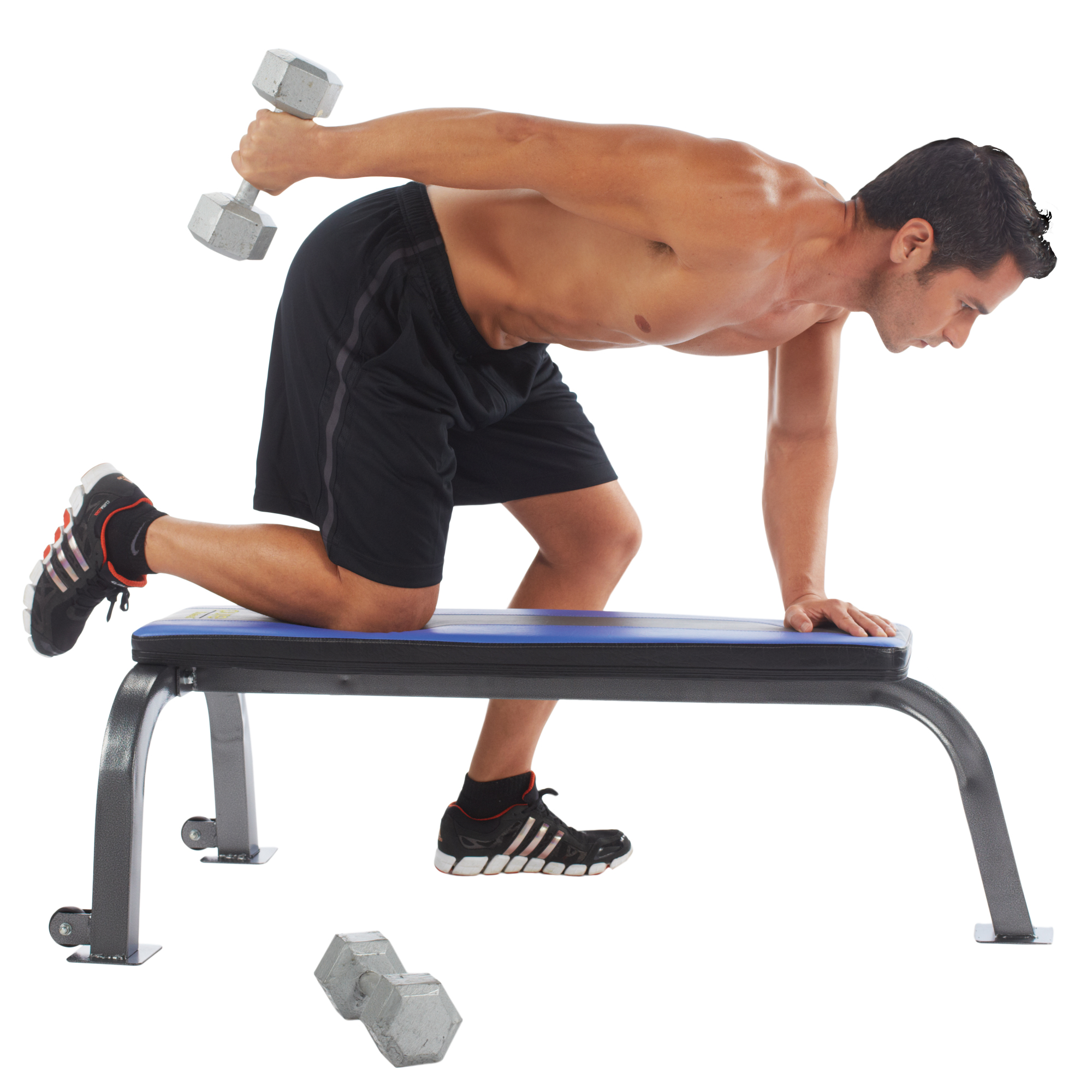 Pure Fitness Flat Bench Workout Bench